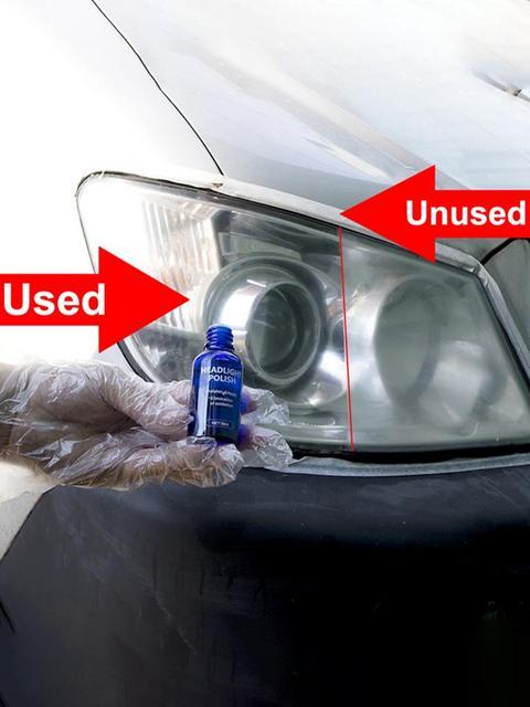 10/30ml Car Headlight Polish Repair Agent Kit Scratch Swirl Oxidation Remover Repair Agent Care Gloves Sandpaper Sponge Wipe Rag