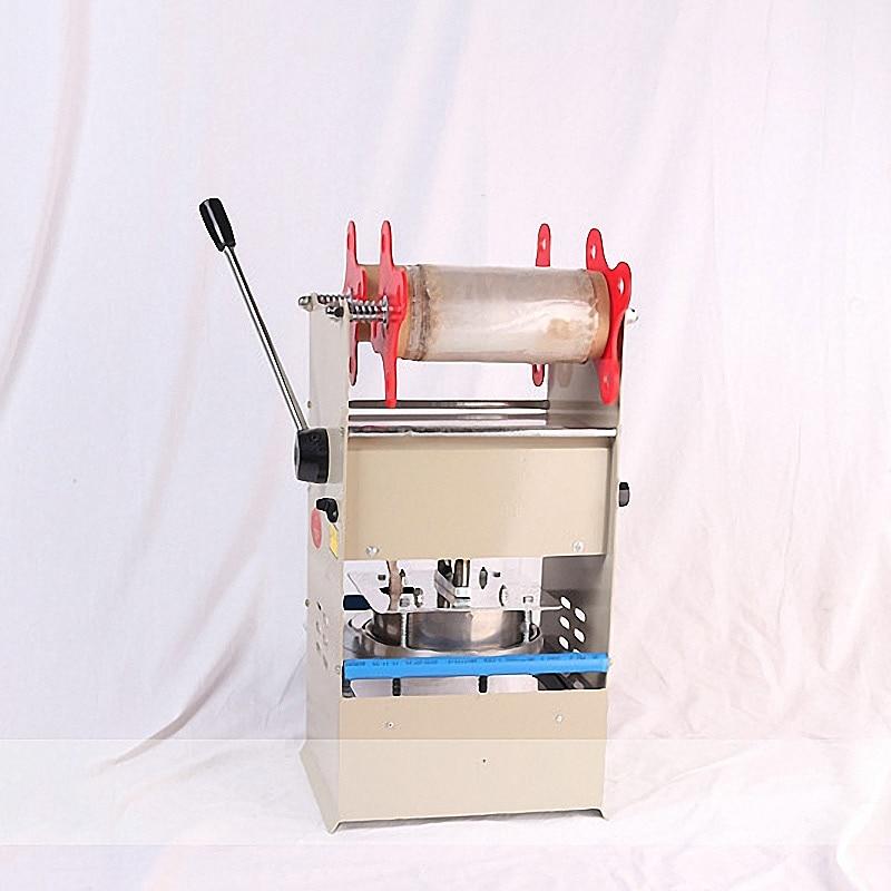 Scelleur d'emballage de plateaux de Machine de cachetage de boîte à déjeuner en plastique manuel pour la Machine fraîche de cachetage de boîte à déjeuner de serrure d'emballage à emporter de nourriture - 4
