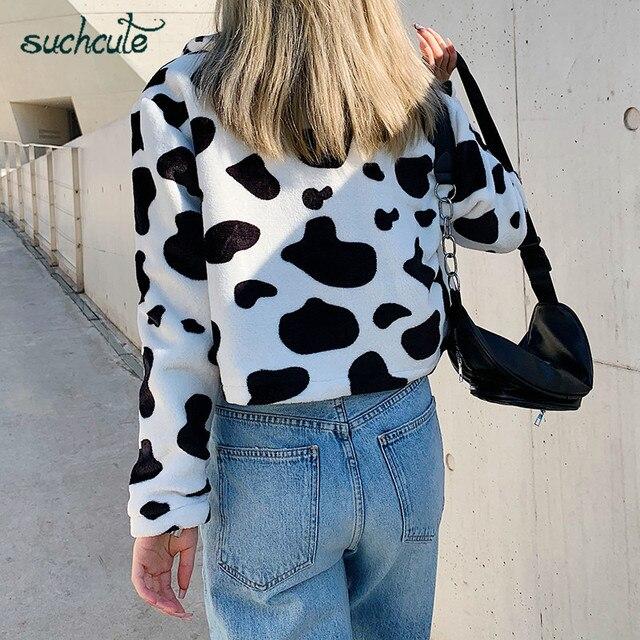 Cow Print Fur Coat  3