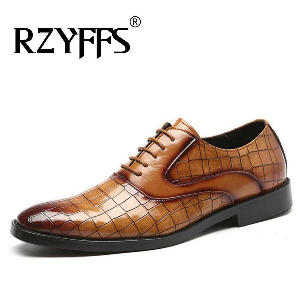 Sıcak satış elbise ayakkabı Mens resmi ayakkabı deri Oxford ayakkabı erkekler için düğün ayakkabı bağcıkları deri Brogues ayakkabı A57-34