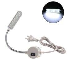 Lâmpada para máquina de costura led smd2835, 30 lâmpada multifuncional flexível com ímãs luzes industriais para torno, furadeira