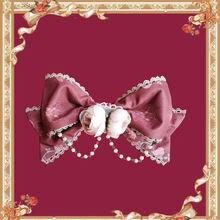 Bell & Beast ~ agradable arco broche Lolita accesorio w. Cadena de Infanta