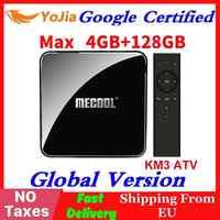 Google certifié Androidtv 9.0 MECOOL KM3 TV Box Android 9.0 4 GB RAM 64 GB 128G Amlogic S905X2 4 K voix 5G Wifi KM9 Pro ATV 2G16G