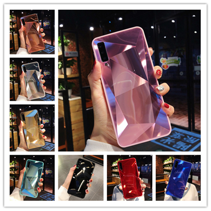 3D Diamond Mirror Case For <font><b>Samsung</b></font> Galaxy A5 A6 A7 A8 A9 <font><b>J2</b></font> J3 J4 J5 J6 J7 J8 Plus Prime Core 2017 2018 <font><b>2019</b></font> 2016 Phone Cover image