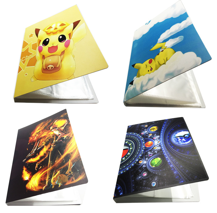 2019 New Collection For Pokemon Cards Album Book For Pikachu Top Loaded List Playing Cards Holder Album Kids Toys 112 Cards