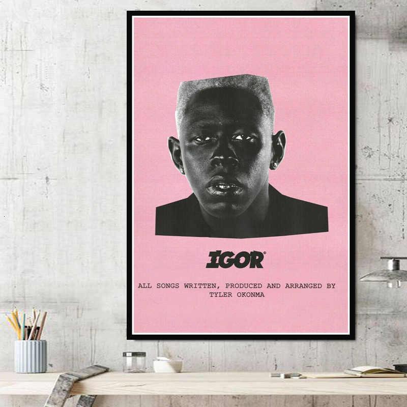 Mới Tyler Người Tạo Ra ASAP Rocky Rap Album Nhạc Ngôi Sao Poster Tranh Canvas Nghệ Tường Ảnh Phòng Khách Nhà trang trí