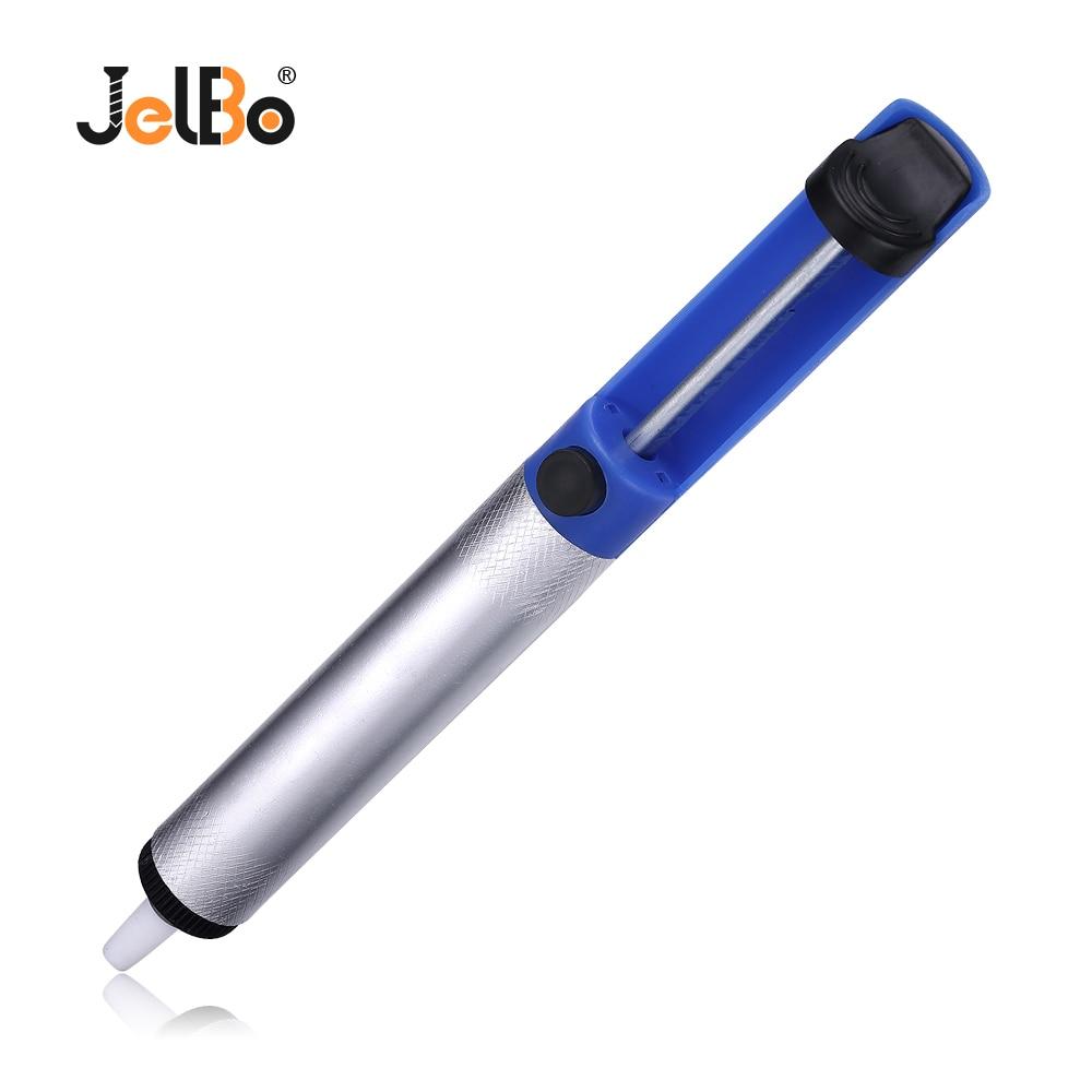 JelBo Suction Tin Soldering Iron Welding Dust Extraction Tool Solder Suckers Desoldering Pump Aluminum Portable Remove Tin Pen