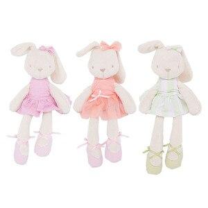 45cm bonito dos desenhos animados animais de pelúcia coelho coelho brinquedo de pelúcia bebê crianças boneca presente de dormir companheiro de pelúcia recheado animal brinquedos do bebê para inf