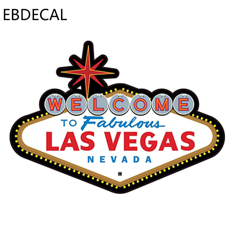 EBdecal FABULOUS LAS VEGAS SIGN Die-cut For Auto Car/Bumper/Window/Wall Decal Sticker Decals DIY Decor CT6369