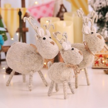 2019Christmas Wool Felt Handmade Deer Christmas Gifts  Window Decoration Festive Atmosphere Party