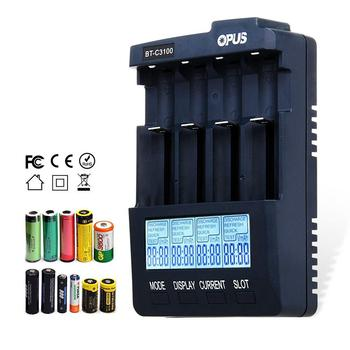 Opus BT-C3100 V2.2 Digital Intelligent 4 Slots AA/AAA LCD Battery Charger Opus BT - C3100 V2.2 Battery Charger new topcon bc 19b charger for topcon total stations bt 32q 2 pin battery