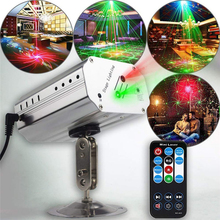 Stage Light Laser Projector LED Auto Flash RG Sound Activated Laser Lamp DJ Disco Lighting Wireless Remote Control Party Lights rgb led water wave rg stage laser northern lights effective dj lighting