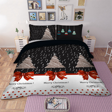 Christmas Tree Bedding set kids gift Merry christmas Duvet Cover Pillowcases Twin Full Queen King Size bed 3pcs