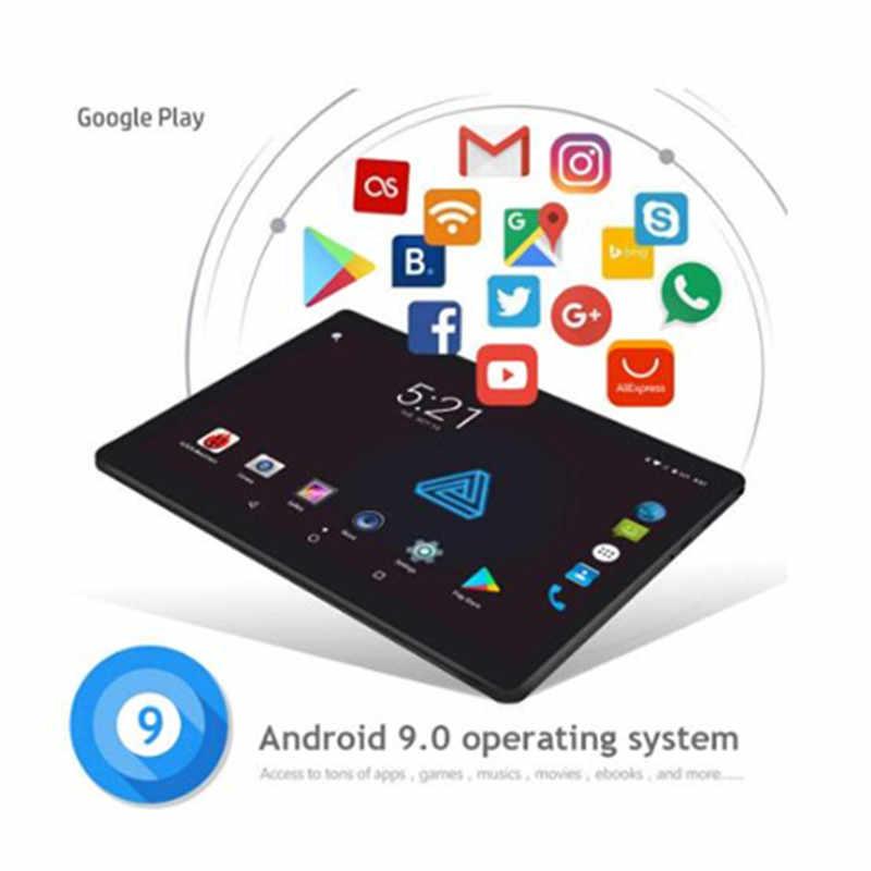 + 8GB + 128GB Venta caliente 10 pulgadas tableta 1920*1200 HD 2.5D de vidrio templado Deca Core 4G FDD-LTE Tablet cámaras duales Android 9,0 Tablet
