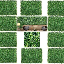 Realistic Artificial Boxwood Fence Privacy Screen Panels 60*40cm,UV Protection Foliage Backdrop Wall Decor for Indoor Outdoor