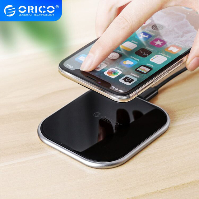 ORICO 10W Wireless Charger For iPhone X/XS Max XR 8 Plus Mirror Wireless Charging Pad For Samsung S9 S10+ Note 9 8