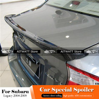 AITWATT For Subaru Legacy 2004 2005 2006 2007 2008 Carbon Fiber Spoiler Rear Roof Spoiler Wing Trunk Lip Boot Cover Car Styling