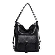2019 moda damska torby na ramię znane marki luksusowe kobiety skórzane torebki damskie miękkie skórzane damskie cabrio Back Pack