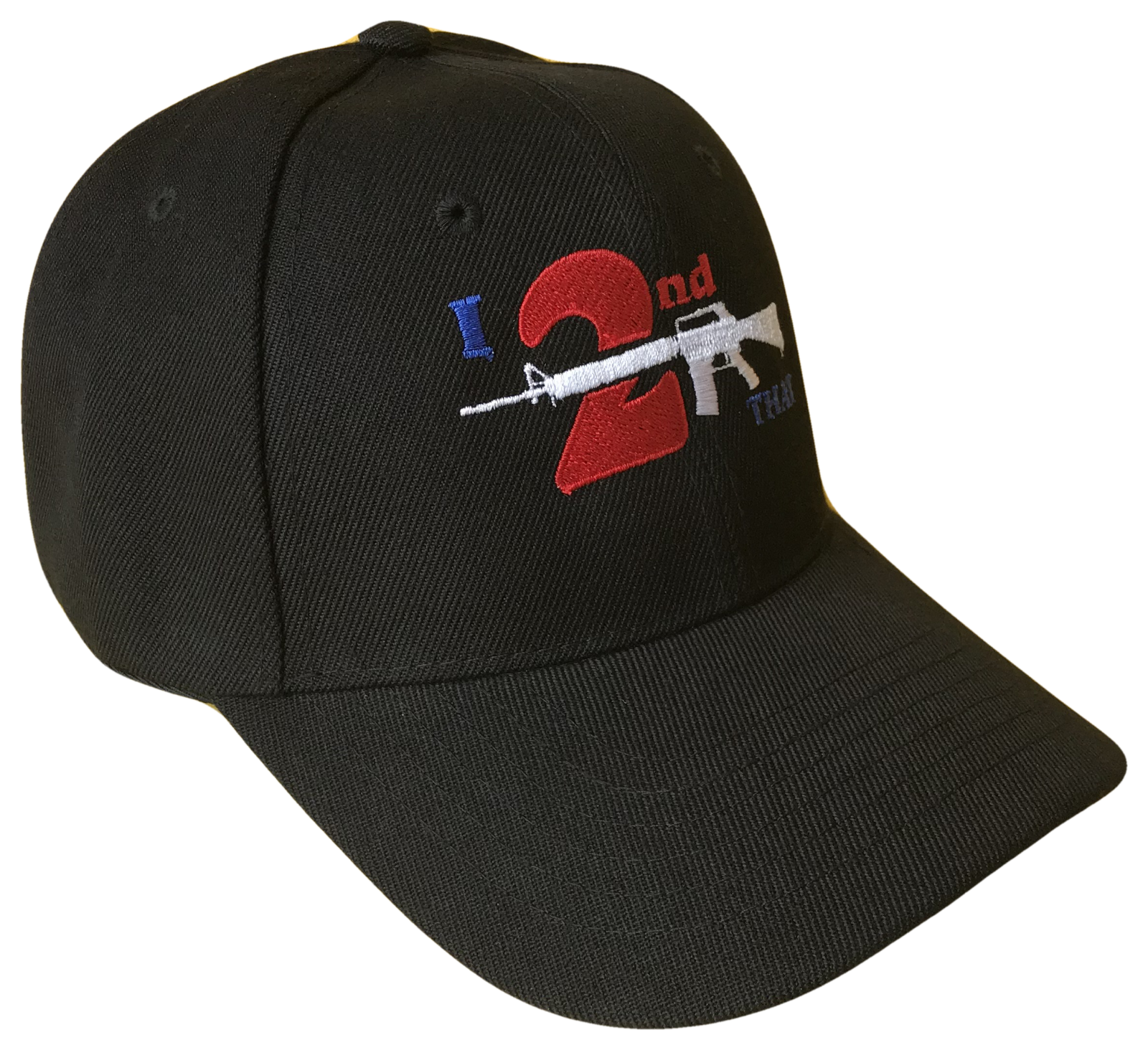 I 2nd That Second Amendment Adjustable Baseball Cap Caps Hat Hats Gun Black