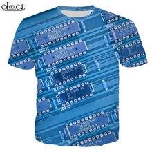 Hx летняя популярная электронная футболка с 3d принтом мужская