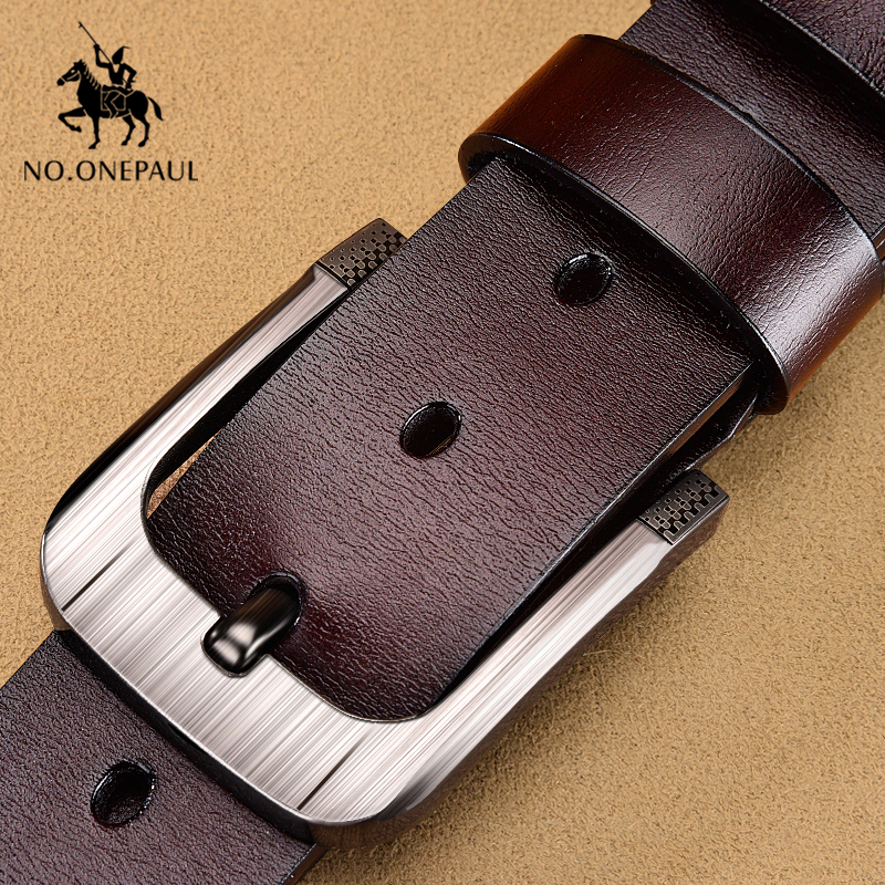 NO.ONEPAUL New Fashion Vintage Leather Men's Belt Cowhide Belts For Men Luxury Designer Belts Men Business Waist Belts Male