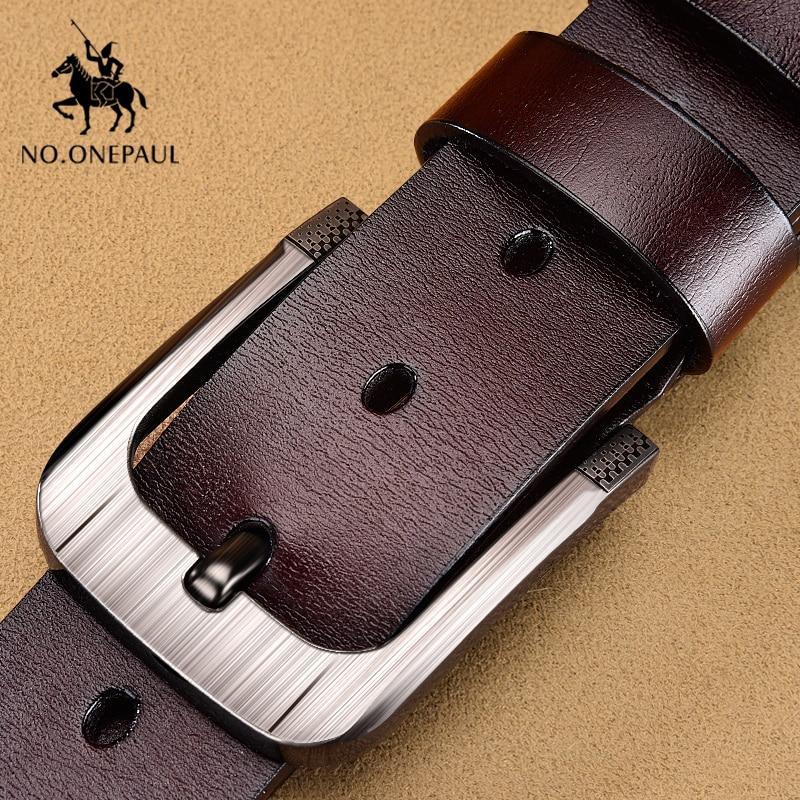 NO.ONEPAUL New Fashion Vintage Leather Men's Belt Cowhide Belts For Men Luxury Designer Belts Men Business Waist Belts Male