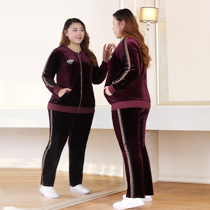 XXXXXXL Oversized Sportswear For Women Sweatshirts Casual Set Large Size Sports Women's Plus Size Clothing Fitness Movement Set