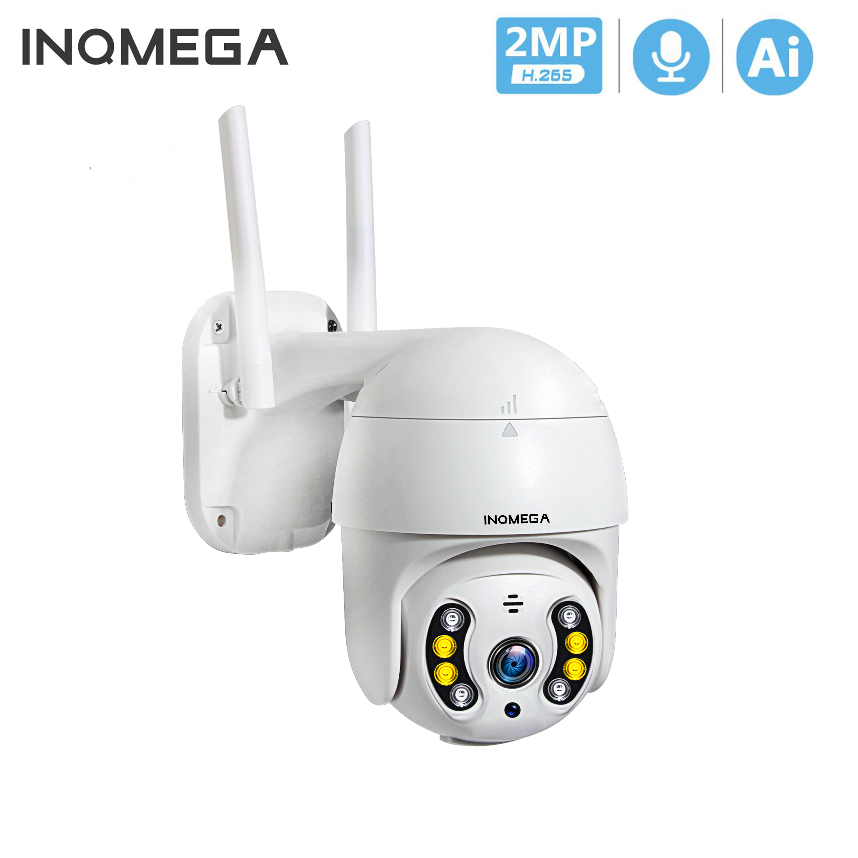 INQMEGA 1080P PTZ Wireless IP Camera Outdoor Waterproof 4X Digital Zoom Speed Dome 1 Inch Mini WiFi Security CCTV Camera ISCEE