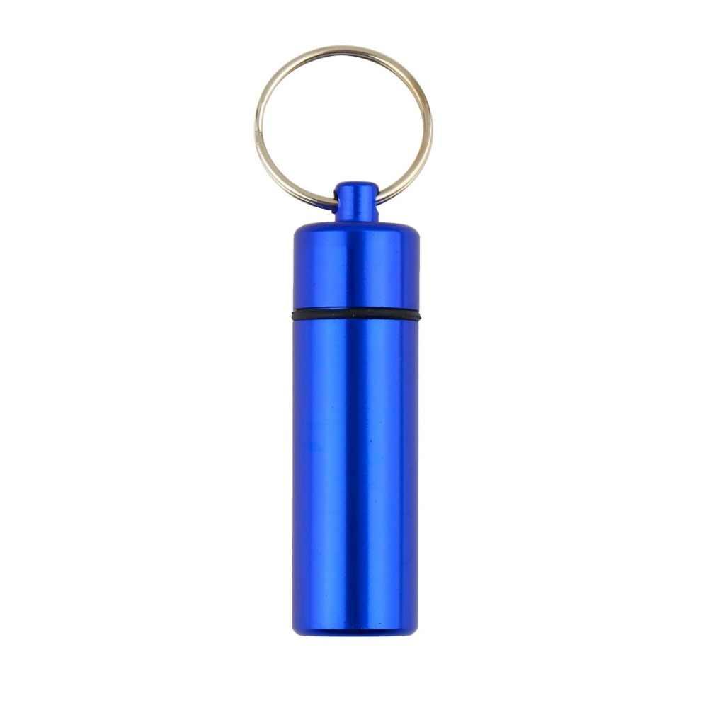 1 قطعة المحمولة للماء البسيطة الأزرق الألومنيوم المفاتيح اللوحي صندوق تخزين زجاجة حالة حامل