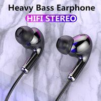 Fone de ouvido com fio fone de ouvido fones de ouvido graves para iphone samsung huawei honor xiaomi 3.5mm esporte gaming headset com microfone