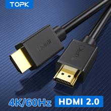 TOPK kabel HDMI 4K 60Hz HDMI Splitter HDMI na HDMI kabel do Xiaomi Mi Box kabel Audio przełącznik Splitter do TV pudełko PS4 kabel HDMI tanie tanio Mężczyzna Mężczyzna Kable HDMI HDMI 2 0a Woreczek foliowy Oplot HDMI2 0 Głośnik Komputer Multimedia MONITOR Projektor
