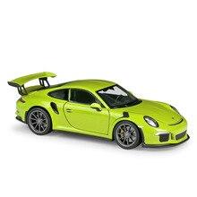 цена на Welly 1:24 2016 911 GT3 RS Blue Red White Diecast Car Model Toy Vehicle Car Model Models Kids Car