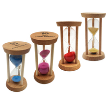 10 Minutes Wooden Sandglass Hourglass Sand Timer Sand Clock for Classroom Teaching Kitchen Cooking Home Decoration