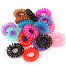 Xugar Hair Accessories 50Pcs 3cm Diameter Scrunchies Candy Solid Telephone Line Tie Elastic Ponytail Holder Rope