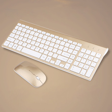 2.4GHz Wireless Keyboard and Mouse Set PC Mouse 1200DPI Slim Keyboard and Mouse Combo for Desktop Computer Laptop Smart TV