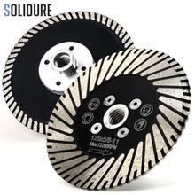 125mm with flange Diamond grinding and cutting Blades Tool Turbo Segmented Stone Cutting For Granite Sandstone