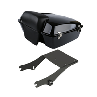 Motorcycle 10.7 Chopped Tour Pak Pack Trunk Backrest Pad+ Rack For Harley Touring Road King Street Glide Road Gilde 1997 2008