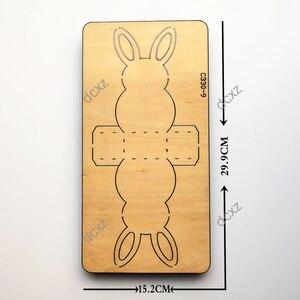 Image 2 - ใหม่กระต่ายCandyกล่องไม้Die Scrapbooking C 330 9 ตัดตายใช้งานร่วมกับDieตัดเครื่อง
