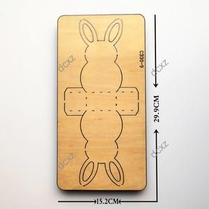 Image 2 - Thỏ mới. Hộp đựng kẹo Gỗ chết Thêu Sò C 330 9 Cắt Chết Tương Thích với hầu hết các máy cắt gạch bàn tay