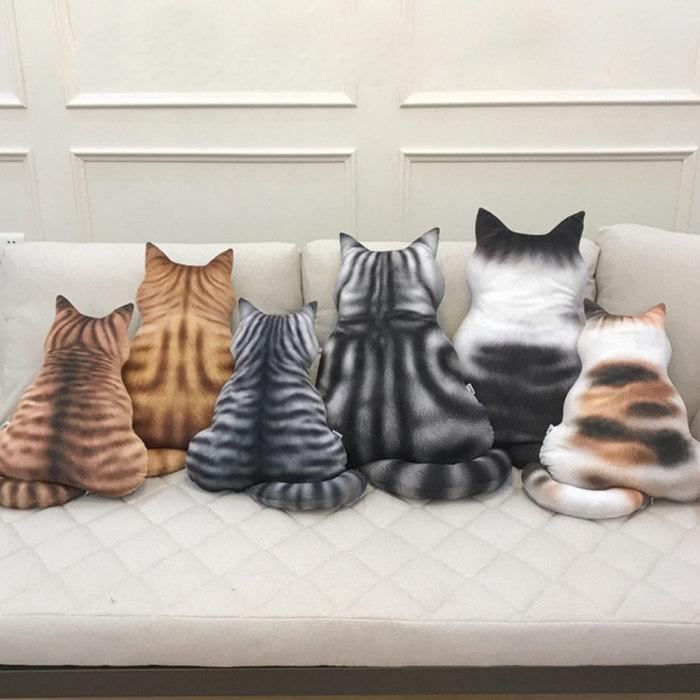 43 см мягкие кошки Подушка силуэт короткие плюшевые PP хлопок плюшевые куклы игрушки кошки подушка милый подарок