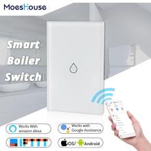 WiFi Smart Boiler Switch Water Heater Smart Life Tuya APP Remote Control Amazon Alexa Echo Google Home Voice Control Glass Panel