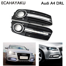 ECAHAYAKU 1set Daytime Light Running Light Fog DRL LED Lamp Waterproof IP67 for Car Special-Audi A4 2009 2010 2011 2012(China)