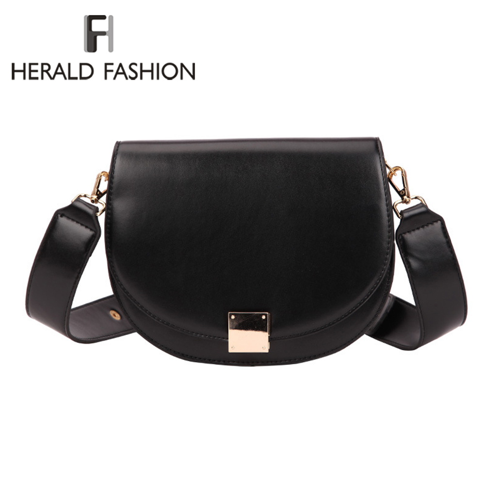 Brand High Quality PU Leather Women Hasp Saddle Bags Designer Luxurious Women Bag 2020 Famale Vintage Shoulder Messenger Bags