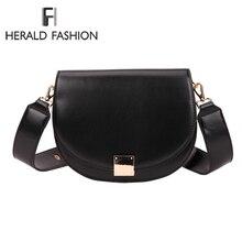 Brand High Quality PU Leather Women Hasp Saddle Bags Designer Luxurious Women Bag 2020 Famale Vintage Shoulder Messenger Bags