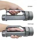 Super lumineux XHP70.2 LED lampe torche de plongée 26650 32650 Waterpoof 100m sous marin 10000lm plongée 6 * xhp70. 2 lampe de plongée - 3