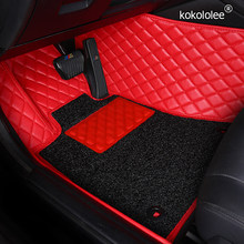 Custom car floor mats for Toyota 86 CHR CROWN Zelas Previa Land Cruiser Prado WISH Venza Fortuner Sienna Tundra auto foot mat(China)