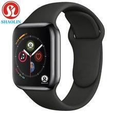 Bluetooth relógio inteligente série 6 caso smartwatch para apple ios iphone xiaomi android telefone inteligente não relógio de maçã (botão vermelho)