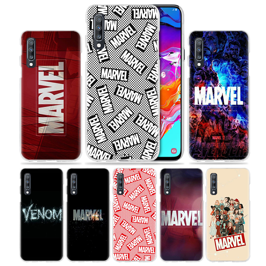 <font><b>Marvel</b></font> Comics <font><b>Logo</b></font> <font><b>Case</b></font> for <font><b>Samsung</b></font> <font><b>Galaxy</b></font> A50 A70 A20e A90 5G A80 A60 A40 <font><b>A30</b></font> s A10 e A20 A9 A7 2018 Hard Phone Coque Sac image