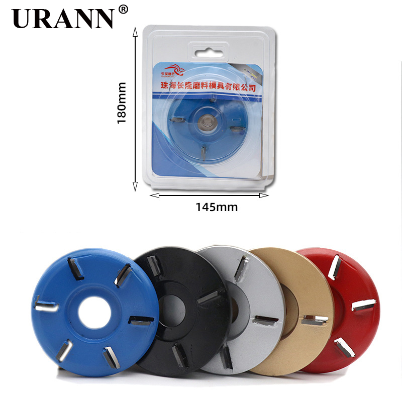 3/4/5/6 Teeth Power Wood Carving Cutter Disc Milling Attachment 90mm Diameter 16mm Bore Arc/Flat For Angle Grinder Attachment