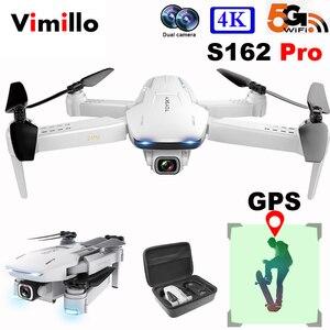 Vimillo S162 Drone GPS z kamerą 4K Hd profesjonalny 5G WIFI FPV składany pilot Quadrocopter Rc Dron VS SG907 PRO